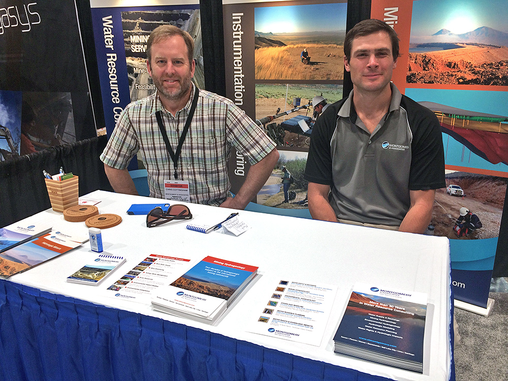 Chris Cottingham and Ben Jones from M&A's Salt Lake City office man the booth at MINExpo