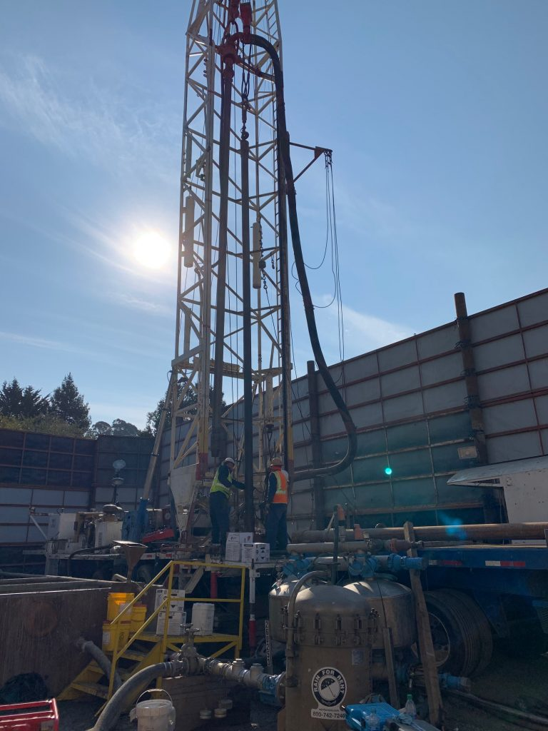 drill rig and well installation